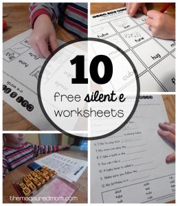10 Free worksheets for u-e words