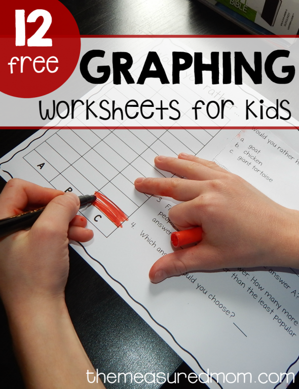 Free (fun!) graphing worksheets for kids - The Measured Mom