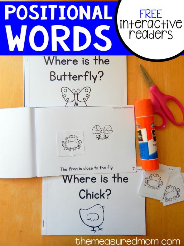 positional words interactive readers