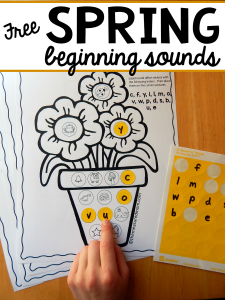 Spring beginning sounds activity