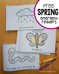 Free Spring Color Me Readers