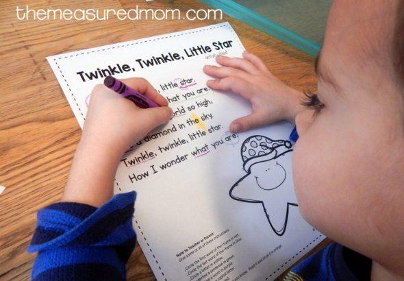 twinkle twinkle activity 5