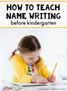 A simple way to practice name writing… before kindergarten!