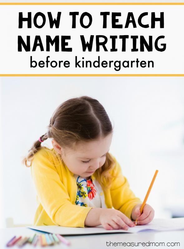 how to teach name writing before kindergarten