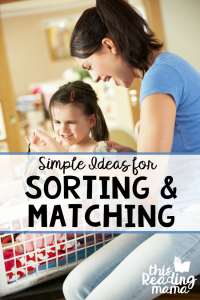 How to teach sorting and matching