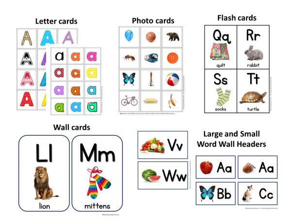 alphabet word cards - Isken kaptanband co