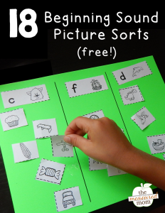 18 free picture sorts for beginning sounds
