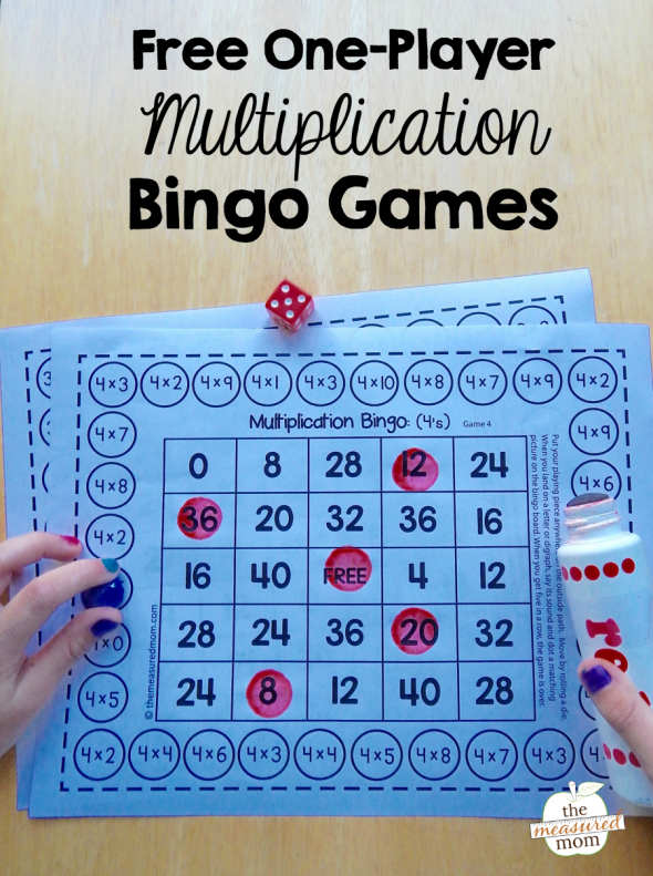 free-one-player-multiplication-bingo-games