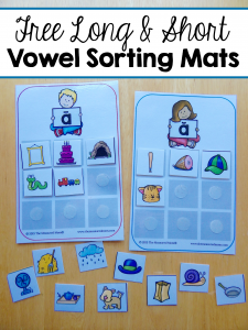 Free sorting mats for short and long vowels