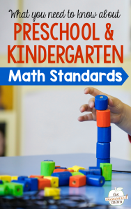 What you need to know about preschool & kindergarten math standards