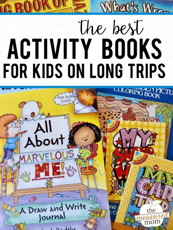 Grab some of these activity books for kids for your next long trip! You'll find activity books for preschoolers through age 10.