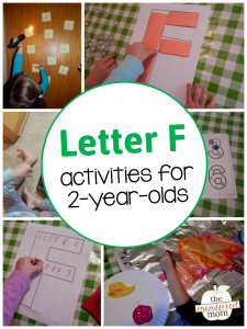 Letter F Activities for 2-year-olds