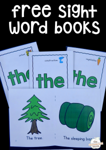 """Free sight word books for the word """"the"""""""
