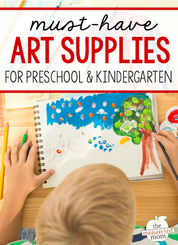 Want to get the best art materials for preschool or kindergarten? This is the ultimate list of recommended supplies!