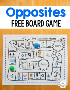 Grab this fun and free opposites game for preschool – just print and play!