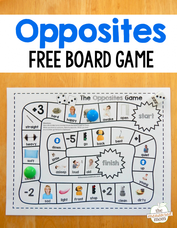 This opposites game is a great learning tool for kids in preschool through first grade. We love the real images!