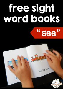 """Teach the sight word """"see"""" with four free books!"""