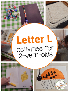 Letter L Activities for 2-year-olds