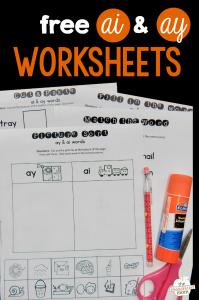 Free ay & ai worksheets