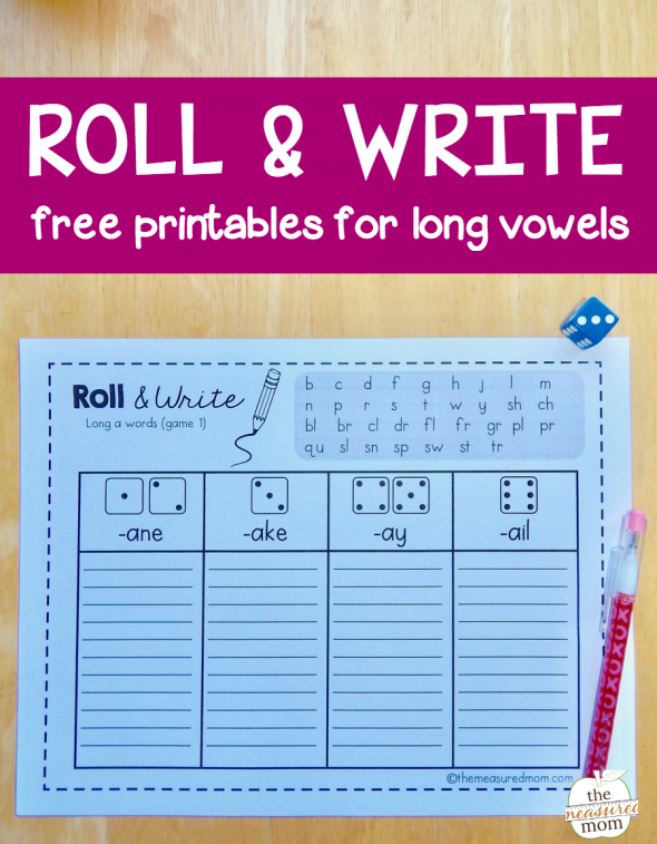 Make spelling practice fun with this collection of roll & write games for long vowel words!