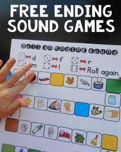 Free (no-prep!) ending sound games