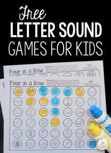 Use these free games for some letter sounds review!