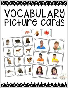 10 Vocabulary activities using our new picture cards