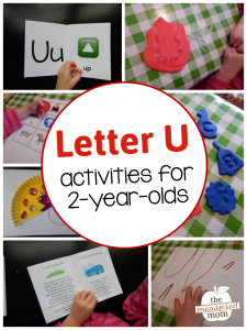 Simple letter U activities for 2-year-olds