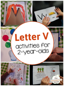 Letter V Activities for 2-year-olds