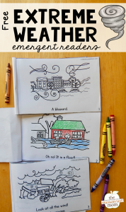 Free emergent readers about extreme weather