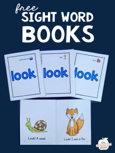 Teach the sight word LOOK with these free books!