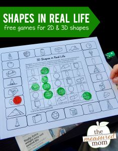 2D and 3D Shape games