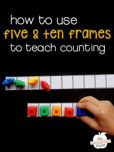 Counting using five and ten frames (free printables!)