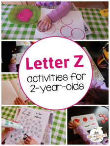 Letter Z Activities for 2-year-olds