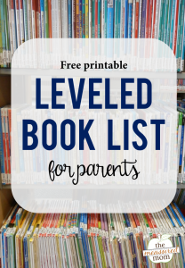 Leveled books you can find at your library – with a printable leveled book list!
