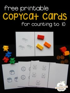 Teach counting with our free copycat cards!