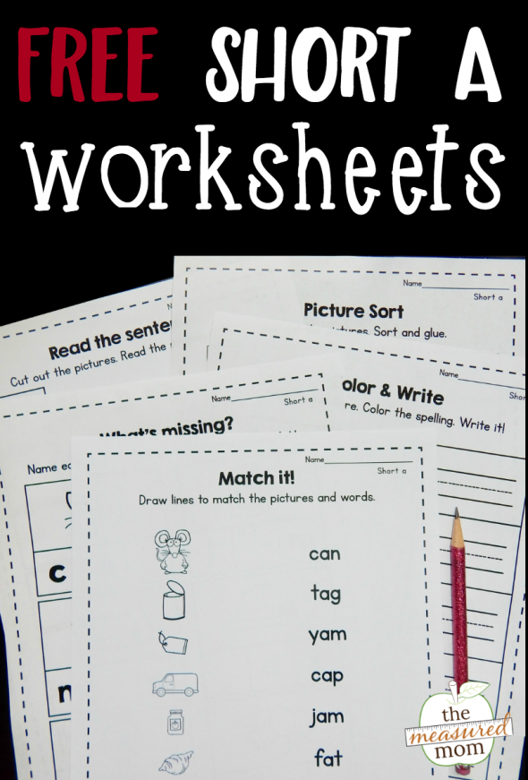 Free short a worksheets - The Measured Mom