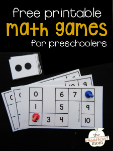 Free count to 10 games for preschoolers