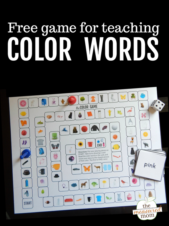 Print this free game to help your students learn the color sight words!