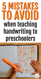 5 Common mistakes to avoid when teaching handwriting