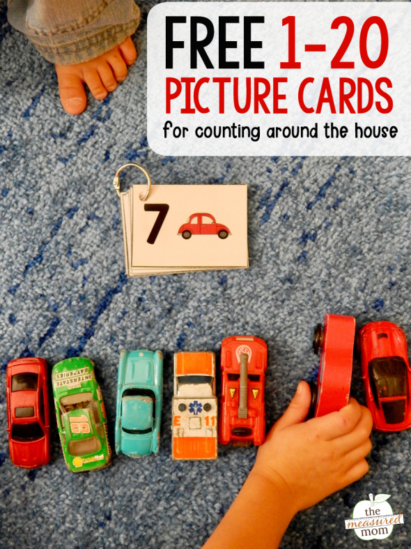 picture of child counting toy cars