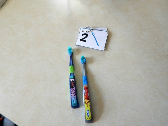 counting toothbrushes