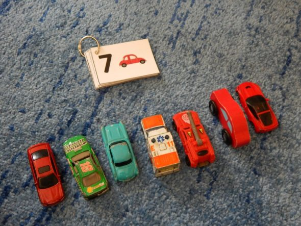 counting toy cars