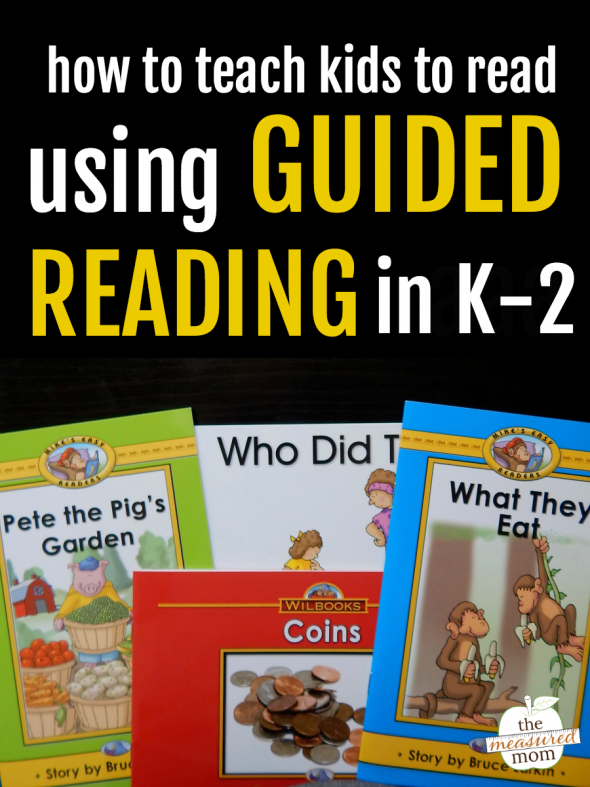 Image promoting a series about teaching guided reading