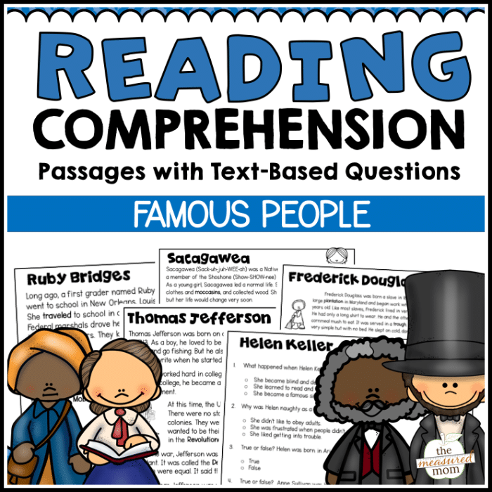 Terms Of Use: 36 Reading Comprehension Passages About Famous People