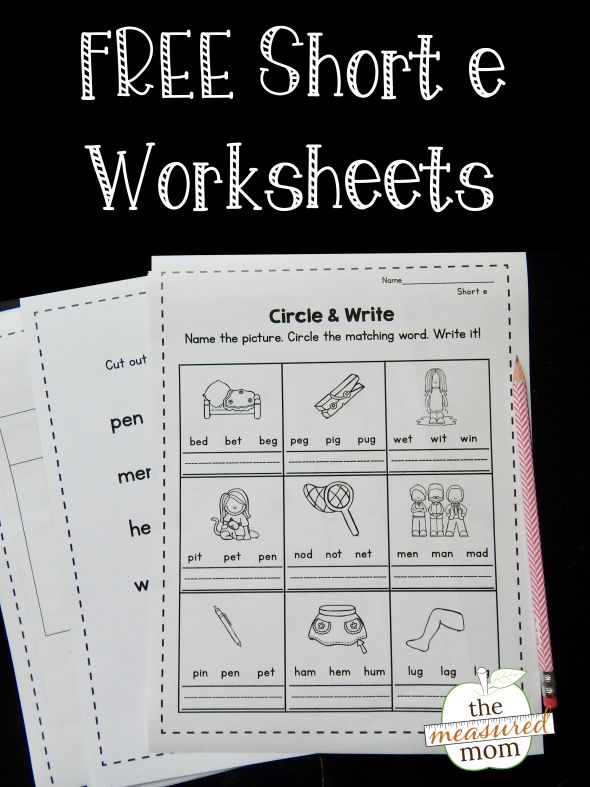 Short E Worksheets - The Measured Mom