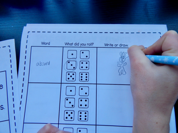 This game-like activity is perfect for vocabulary review in third, fourth, and fifth grade!