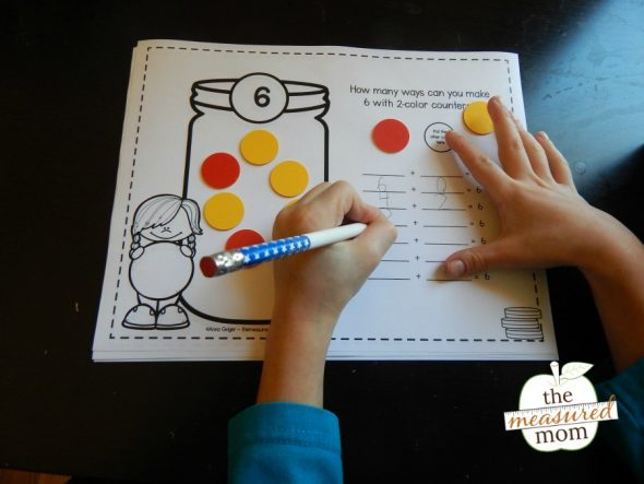 These addition worksheets provide a hands-on way to create and record number sentences - free!