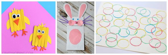 If you're all about easy, then you'll love this round up of simple Easter crafts for preschoolers!