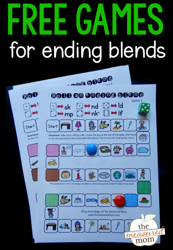 Try these fun, free games for ending blends!